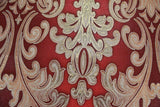 L900-13 Red Gold Damask Wallpaper