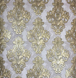 7070-10 Vintage Damask Bronze Violet Wallpaper