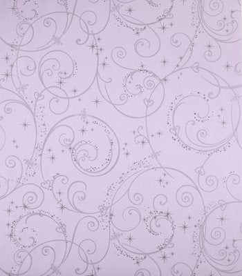DK5965 Perfect Princess Swirl Purple Glitter Wallpaper