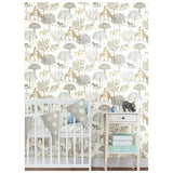 KI0540 On The Savanna Prepasted SureStrip Wallpaper - wallcoveringsmart