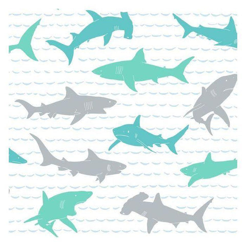 KI0567 Shark Charades Prepasted SureStrip Wallpaper