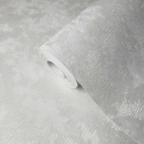Modern Embossed Wallpaper gloss off white cream Plain textured
