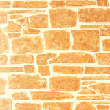 831-05 Brick Orange Expanded Vinyl - Double roll Wallpaper