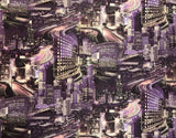 L487-07 Purple Night Big City Capital Wallpaper