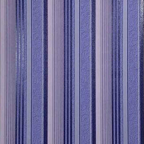 M307-13 Striped navy Blue Violet Vinyl Wallpaper stripes textured
