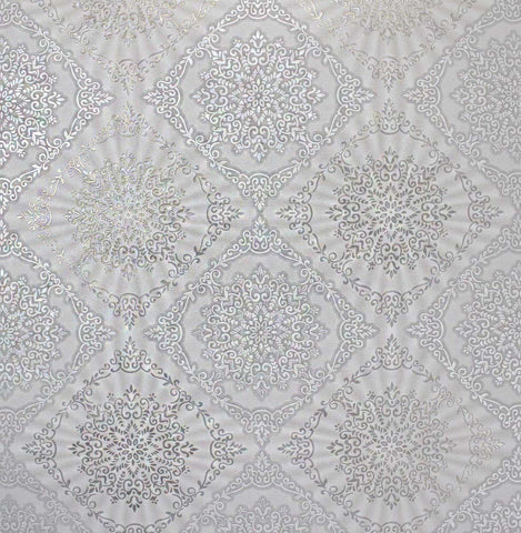 8509-01 White Silver Diamond Wallpaper