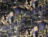 L487-03 Night Big City Modern Capital Wallpaper Roll