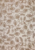 5536-02 Cream Floral Expanded Vinyl - Double roll Wallpaper