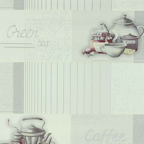 C783-10 Modern gray off white Coffee Vinyl  Wallpaper