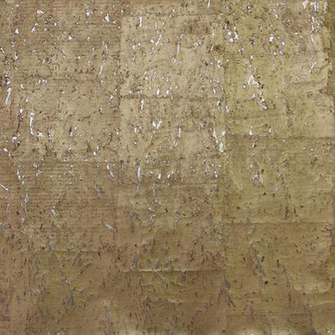 DL2962 York Wallcoverings Candice Olson Real Natural Cork Wallpaper Gold Silver - wallcoveringsmart