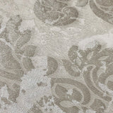 500043  Portofino 3D Ivory rustic Beige Damask Textured Wallpaper