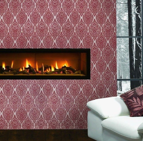 3517-13 Jacquard Damask - Quadruple roll Wallpaper