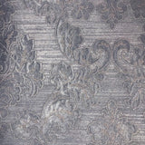 125005 Wallpaper navy blue Metallic Textured Vintage Victorian Damask - wallcoveringsmart
