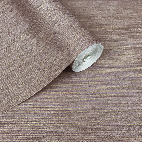 175037 Plain Metallic Dust Pink Violet Gold Wallpaper