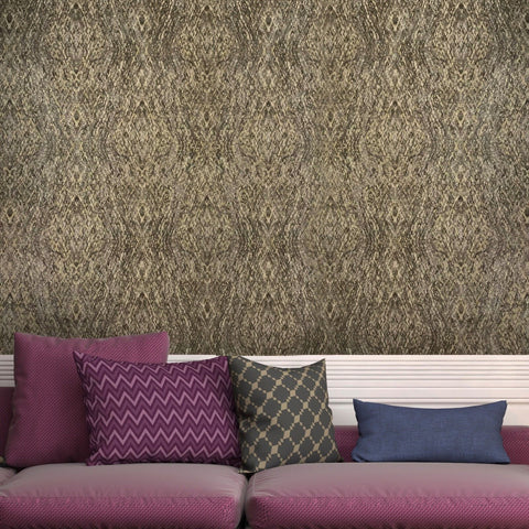V508-12 Kaleidoscope Brown Gold Wallpaper