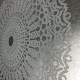 215021 Portofino Wallpaper lace Glassbeads textured silver Metallic lines 3D glass beads