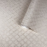 4502-06 Dust Taupee Metallic Shine Diamond Wallpaper