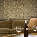 L901-12 Brown Victorian Gold Wallpaper