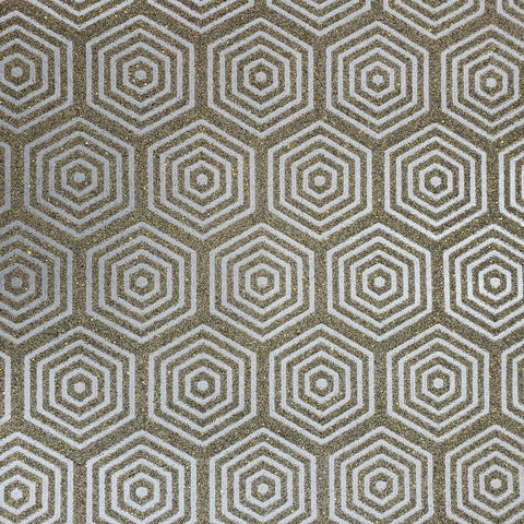 I231 Natural Mica Vermiculite Hexagon gray Silver metallic gold sparkles Wallpaper 3D
