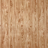 V319-02 Textured Orange Brown Gold Wood Board Planks Wallpaper