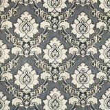 8540-13 Embossed wallpaper textured Victorian damask gray gold metallic 3D