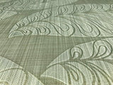 135004 Leaf Floral Green Gold Textured Wallpaper
