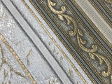 V507-02 Striped Victorian Antique Gold Wallpaper