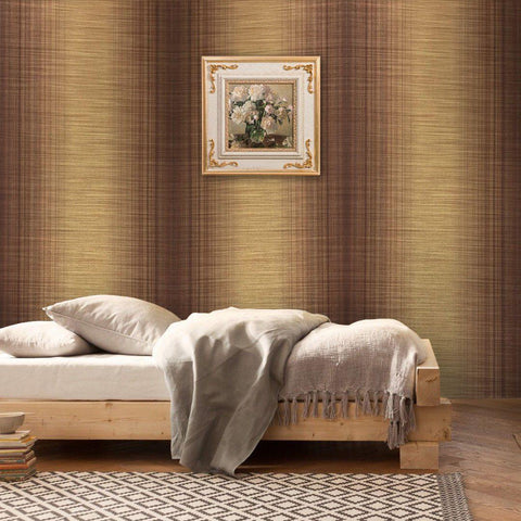 135020 striped Wallpaper plaid gold bronze Metallic Textured Plain stria lines 3D - wallcoveringsmart