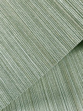 135043 Green Stria Stripes Plain Wallpaper