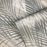 255003 Palm Leaf Silver Gray Wallpaper