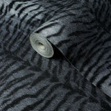 255062 Portofino Tiger Silver Grey Black Some Glitter Wallpaper