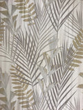 255007 Cream Gold Silver Palm Leaf Wallpaper