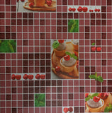 5509-12 Ice cream Mosaic Tile Red Wallpaper