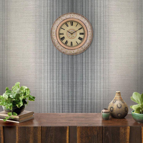 135022 Gray Stria Stripes Textured Wallpaper