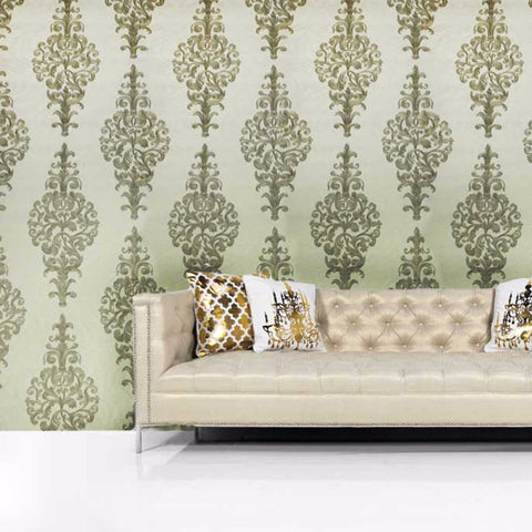 L890-10 Off White Bronze Gold Victorian Wallpaper