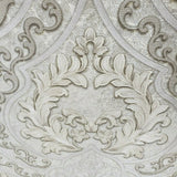 Wallpaper Victorian Damask Mocha Taupe Brass Gold Metallic textured