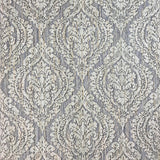 5527-06 Grey Lilac Damask Textured Textile Look Wallpaper