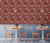 5509-12 Ice cream Mosaic Tile Burgundy Red Wallpaper
