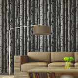 2900-31052 ( FD31052 ) Distinctive Black Birch Tree Wallpaper