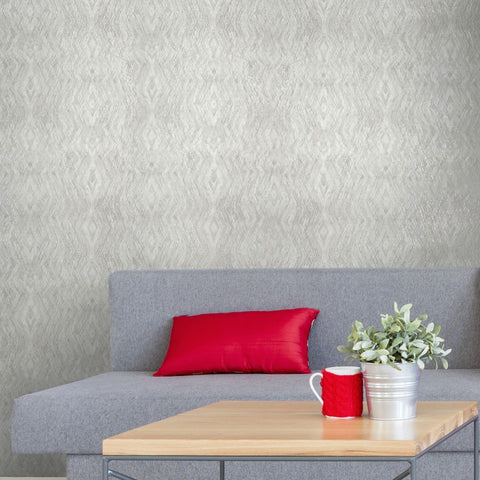 V508-01 Kaleidoscope White Cream Wallpaper