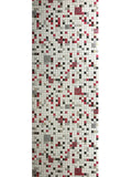 5584-10 Mosaic Tile White Red Wallpaper