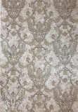 L895-07 Victorian Gray Brown taupe Textured Wallpaper