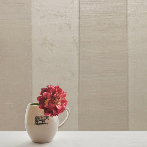 125037 Portofino Striped Cream Beige Textured Stripes Wallpaper