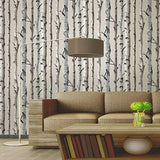 2532-20418 MODERN IRVIN GREY BIRCH TREE Wallpaper
