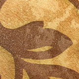 500011 Gold Brown Bronze Floral Wallpaper
