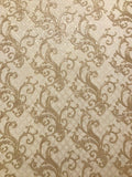 8549-02 Snake Diamond Print Gold Rose Wallpaper