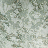 Mint green gold Metallic cracked plaster textured Wallpaper Damask