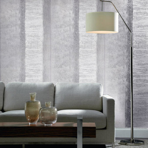 310007 Gray Rustic Striped textured stripes Wallpaper