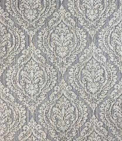 5527-06 Wallpaper textured gray purple rustic ogree diamond vintage damask