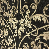 8545-10 Black Gold Damask Wallpaper